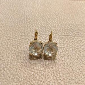 Kate Spade Crystal Lever Back Earrings